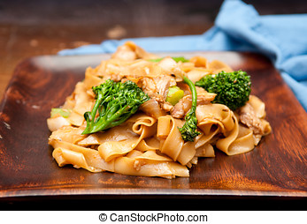 chicken pad see ew - decadent thai chicken stir fry pad see...