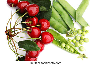 Peas and cherries 2
