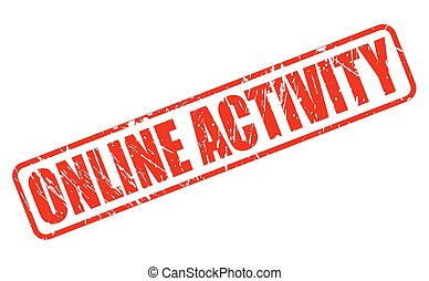 ONLINE ACTIVITY red stamp text on white