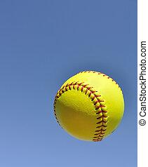 黃色, 壘球, 空氣