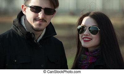 Married couple on a walk