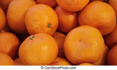 background of tangerines in heap