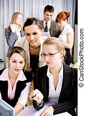 office team - A young business team in the office