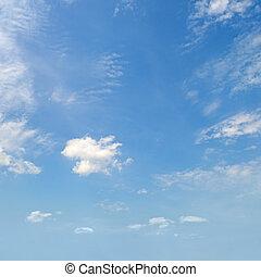 blu, luce, cumulo, nubi, cielo