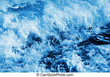 seawater splashing - splash of seawater with sea foam and...