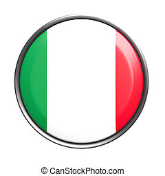 Button with Italy flag - 3d rendering of Italy button on...
