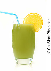 Kiwi smoothie - Kiwi flavoured smoothie with a slice of...