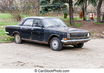 Volga in the city street - Motor car GAZ 24 Volga in the...