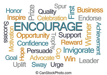 Encourage Word Cloud on White Background