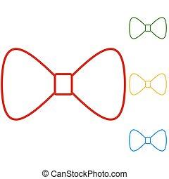 Vector Black Bow Tie
