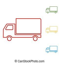 Delivery sign line illustration