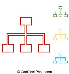 site map line icon for your projects. Set of line icons....
