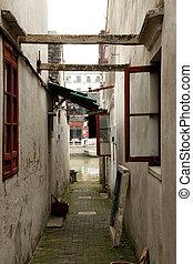 Alleyway in Zhujiajiao, China.