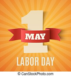May 1st Labor Day background Poster, greeting card or...