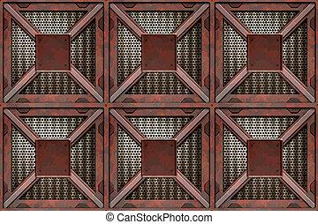 rusting crates
