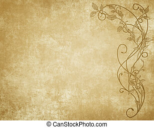 floral paper or parchment - large image of floral paper...