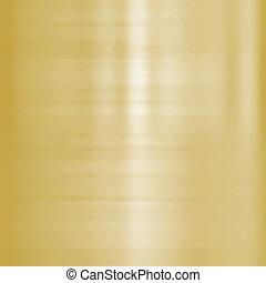 fine brushed gold metal