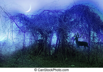 Stock image of mystical thicket - Spiritual and...