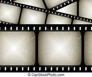 abstract filmstrip - abstract composition of movie frames or...