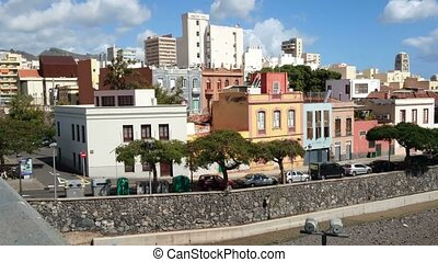 Buildings in Santa Cruz de Tenerife, Canary Islands