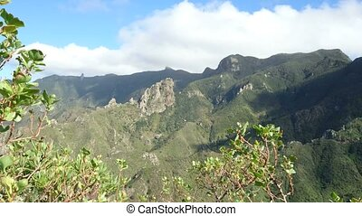 Volcanic mountains in Tenerife, Canary Islands