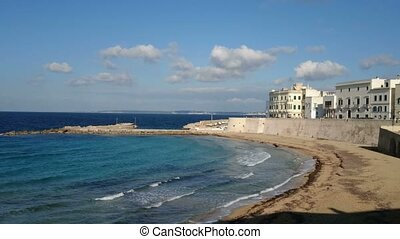 Seafront of Gallipoli, Italy - Seafront of Gallipoli,...