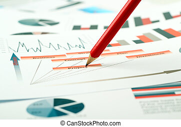 colorful graphs, charts, marketing research and business...