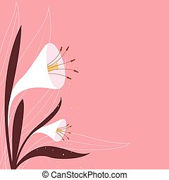 Artistic Lilly flower background