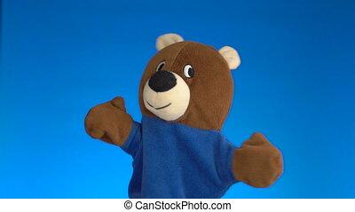 Cute glove puppet teddy bear - Funny glove puppet teddy bear