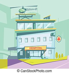 Hospital Cartoon Background - Hospital building cartoon...