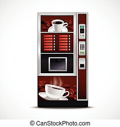 Realistic Coffee Vending Machine - Realistic coffee vending...