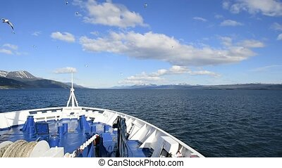 Ushuaia Argentina chanel view - Leaving Ushuaia Argentina on...