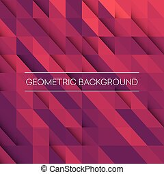 Abstract mosaic background. Pink, purple, orange triangles...