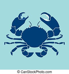 crab silhouette sign, symbol