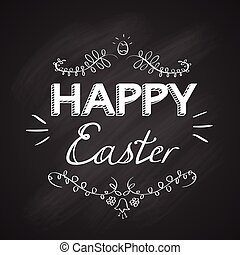 Happy Easter Holiday Sketch Greeting Card Banner