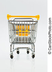 shopping cart - an empty shopping cart on a white background...