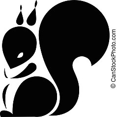 Squirrel Vector sign squirrel - Silhouette Squirrel Template...