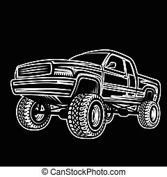 car truck 4x4 pickup off-road - Vector illustration car...