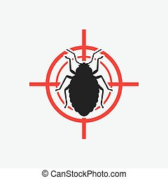 bug icon red target