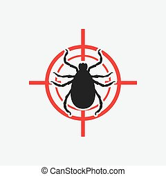 mite icon red target - vector illustration eps 8