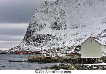 Reine, Lofoten Islands, Norway - Winter time in Reine,...