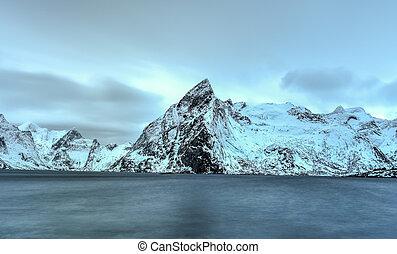 Hamnoy - Lofoten Island, Norway - Fishing hut rorbu in the...