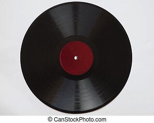 Vintage 78 rpm record - Vintage 78 rpm music record with...