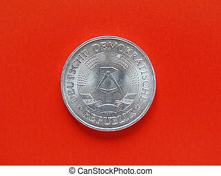 German DDR coin - One Mark coin from the DDR (East Germany)...