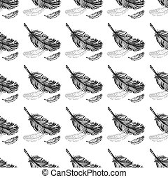 Feathers seamless pattern background