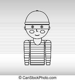 thief character design, vector illustration eps10 graphic
