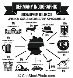 German infographic elements, simple style - German...