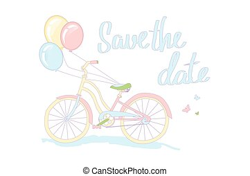 Save the date - love card design. vector illustration. Save...