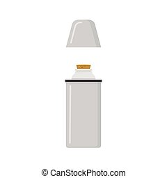 Thermos Simplified Illustration - Thermos Simplified Graphic...