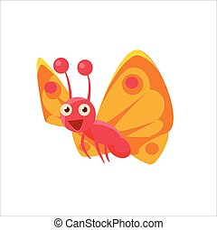 Butterfly Mid-air Icon - Butterfly Mid-air Childish...